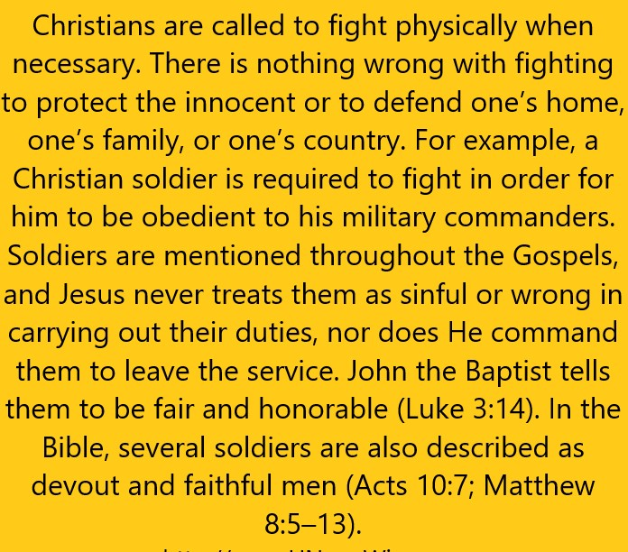 Christian are called fight
